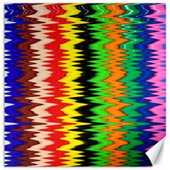 Colorful Liquid Zigzag Stripes Background Wallpaper Canvas 20  X 20
