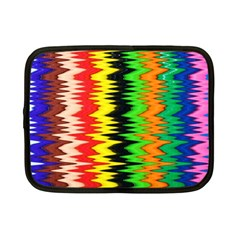 Colorful Liquid Zigzag Stripes Background Wallpaper Netbook Case (small)