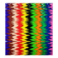 Colorful Liquid Zigzag Stripes Background Wallpaper Shower Curtain 66  X 72  (large)