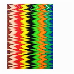 Colorful Liquid Zigzag Stripes Background Wallpaper Large Garden Flag (two Sides)
