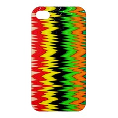 Colorful Liquid Zigzag Stripes Background Wallpaper Apple iPhone 4/4S Premium Hardshell Case