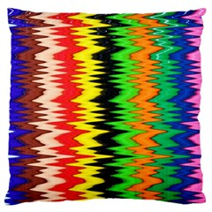 Colorful Liquid Zigzag Stripes Background Wallpaper Large Cushion Case (One Side)
