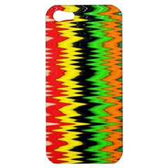 Colorful Liquid Zigzag Stripes Background Wallpaper Apple iPhone 5 Hardshell Case