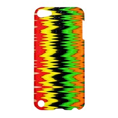 Colorful Liquid Zigzag Stripes Background Wallpaper Apple iPod Touch 5 Hardshell Case
