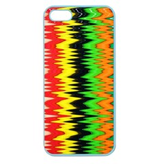 Colorful Liquid Zigzag Stripes Background Wallpaper Apple Seamless iPhone 5 Case (Color)