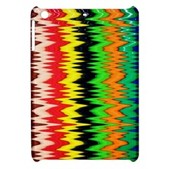 Colorful Liquid Zigzag Stripes Background Wallpaper Apple iPad Mini Hardshell Case