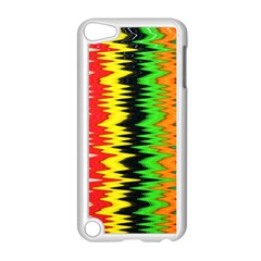Colorful Liquid Zigzag Stripes Background Wallpaper Apple iPod Touch 5 Case (White)