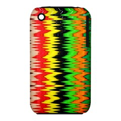 Colorful Liquid Zigzag Stripes Background Wallpaper iPhone 3S/3GS
