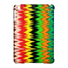 Colorful Liquid Zigzag Stripes Background Wallpaper Apple iPad Mini Hardshell Case (Compatible with Smart Cover)
