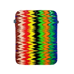 Colorful Liquid Zigzag Stripes Background Wallpaper Apple iPad 2/3/4 Protective Soft Cases