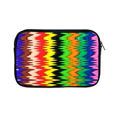 Colorful Liquid Zigzag Stripes Background Wallpaper Apple Ipad Mini Zipper Cases