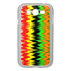 Colorful Liquid Zigzag Stripes Background Wallpaper Samsung Galaxy Grand Duos I9082 Case (white)