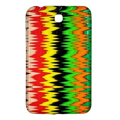 Colorful Liquid Zigzag Stripes Background Wallpaper Samsung Galaxy Tab 3 (7 ) P3200 Hardshell Case