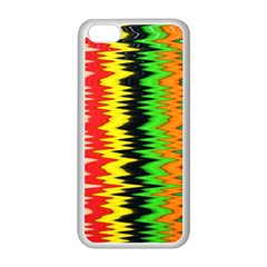 Colorful Liquid Zigzag Stripes Background Wallpaper Apple iPhone 5C Seamless Case (White)