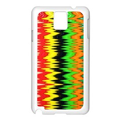 Colorful Liquid Zigzag Stripes Background Wallpaper Samsung Galaxy Note 3 N9005 Case (white)