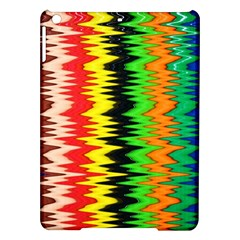 Colorful Liquid Zigzag Stripes Background Wallpaper iPad Air Hardshell Cases