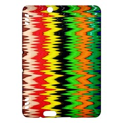 Colorful Liquid Zigzag Stripes Background Wallpaper Kindle Fire HDX Hardshell Case