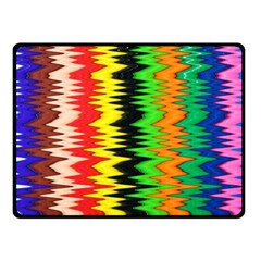 Colorful Liquid Zigzag Stripes Background Wallpaper Double Sided Fleece Blanket (Small)