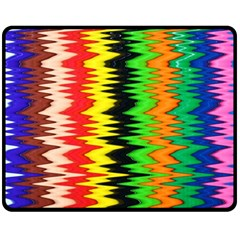 Colorful Liquid Zigzag Stripes Background Wallpaper Double Sided Fleece Blanket (medium)