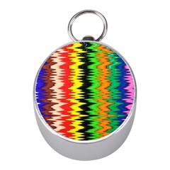 Colorful Liquid Zigzag Stripes Background Wallpaper Mini Silver Compasses