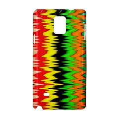 Colorful Liquid Zigzag Stripes Background Wallpaper Samsung Galaxy Note 4 Hardshell Case