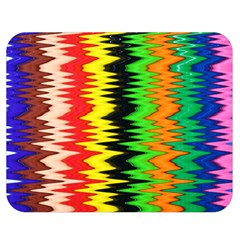 Colorful Liquid Zigzag Stripes Background Wallpaper Double Sided Flano Blanket (medium)