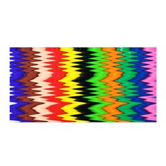 Colorful Liquid Zigzag Stripes Background Wallpaper Satin Wrap