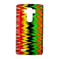 Colorful Liquid Zigzag Stripes Background Wallpaper LG G4 Hardshell Case
