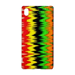 Colorful Liquid Zigzag Stripes Background Wallpaper Sony Xperia Z3+