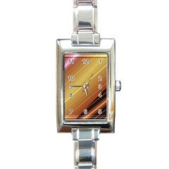 Diagonal Color Fractal Stripes In 3d Glass Frame Rectangle Italian Charm Watch