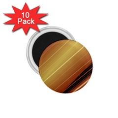 Diagonal Color Fractal Stripes In 3d Glass Frame 1 75  Magnets (10 Pack)