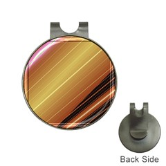 Diagonal Color Fractal Stripes In 3d Glass Frame Hat Clips with Golf Markers