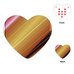 Diagonal Color Fractal Stripes In 3d Glass Frame Playing Cards (Heart)