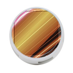 Diagonal Color Fractal Stripes In 3d Glass Frame 4-Port USB Hub (Two Sides)
