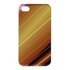 Diagonal Color Fractal Stripes In 3d Glass Frame Apple iPhone 4/4S Hardshell Case