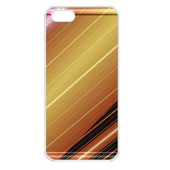 Diagonal Color Fractal Stripes In 3d Glass Frame Apple iPhone 5 Seamless Case (White)