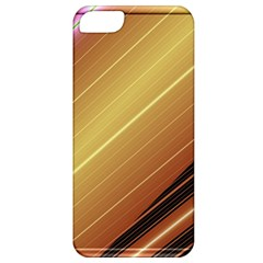 Diagonal Color Fractal Stripes In 3d Glass Frame Apple iPhone 5 Classic Hardshell Case