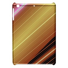 Diagonal Color Fractal Stripes In 3d Glass Frame Apple iPad Mini Hardshell Case