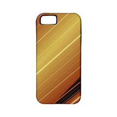 Diagonal Color Fractal Stripes In 3d Glass Frame Apple iPhone 5 Classic Hardshell Case (PC+Silicone)