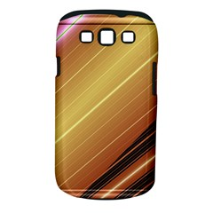 Diagonal Color Fractal Stripes In 3d Glass Frame Samsung Galaxy S III Classic Hardshell Case (PC+Silicone)