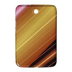 Diagonal Color Fractal Stripes In 3d Glass Frame Samsung Galaxy Note 8.0 N5100 Hardshell Case