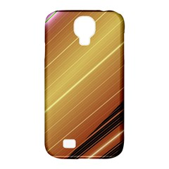Diagonal Color Fractal Stripes In 3d Glass Frame Samsung Galaxy S4 Classic Hardshell Case (PC+Silicone)