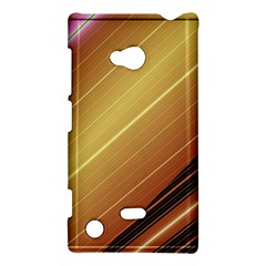 Diagonal Color Fractal Stripes In 3d Glass Frame Nokia Lumia 720