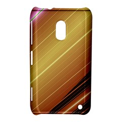 Diagonal Color Fractal Stripes In 3d Glass Frame Nokia Lumia 620