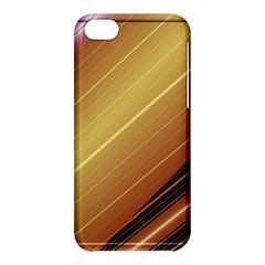 Diagonal Color Fractal Stripes In 3d Glass Frame Apple iPhone 5C Hardshell Case