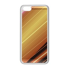 Diagonal Color Fractal Stripes In 3d Glass Frame Apple Iphone 5c Seamless Case (white)
