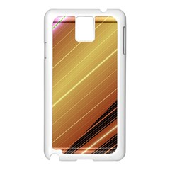 Diagonal Color Fractal Stripes In 3d Glass Frame Samsung Galaxy Note 3 N9005 Case (White)