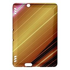 Diagonal Color Fractal Stripes In 3d Glass Frame Kindle Fire Hdx Hardshell Case
