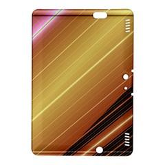 Diagonal Color Fractal Stripes In 3d Glass Frame Kindle Fire HDX 8.9  Hardshell Case