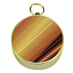 Diagonal Color Fractal Stripes In 3d Glass Frame Gold Compasses